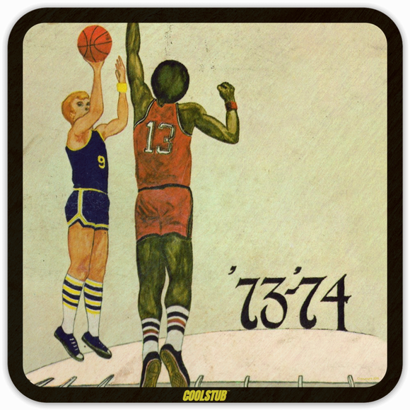 1973-74 Basketball: Coolstub™ Retro Basketball Art Coasters