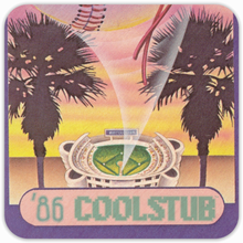 Load image into Gallery viewer, 1986 Baseball Gift Idea: Coolstub™ Retro Baseball Drink Coasters (4)