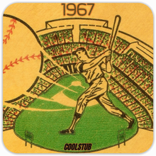 Load image into Gallery viewer, Baseball Father's Day Gift Ideas: Coolstub™ 1967 Ticket Stub Coasters (4)