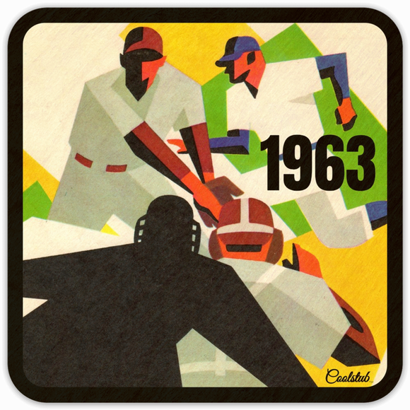 1963 Vintage Baseball Art Coasters (4) by Coolstub™