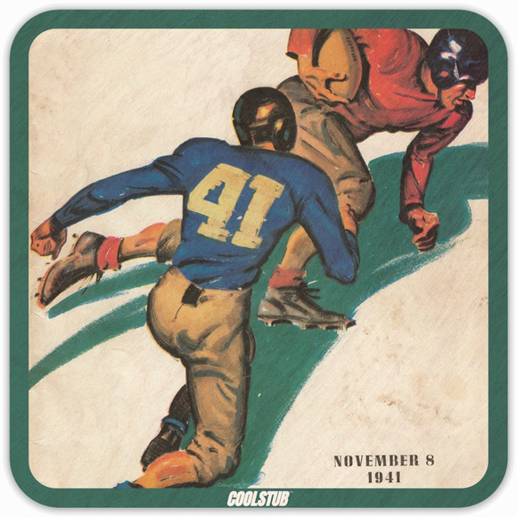 Gifts for People Born in 1941: Coolstub™ 1941 Football Program Art Coasters