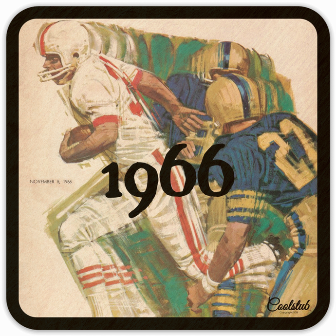 Best Birch Wood Coasters: Coolstub™ 1966 Running Back Football Art Coasters