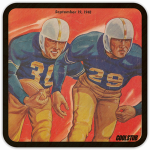 September 19, 1948 Football Program Coasters by Coolstub™