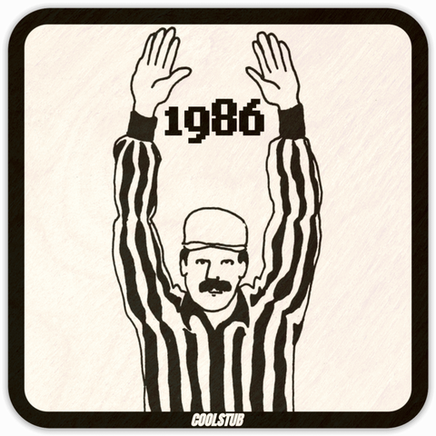 Gift Ideas For Football Referees: Coolstub™ Retro 1986 Drink Coaster Set