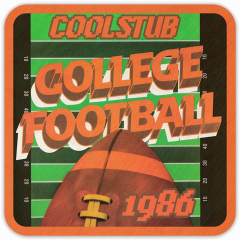 1986 College Football Field Art Coasters by Coolstub™