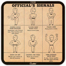 Load image into Gallery viewer, 1938 Football Rules Official's Signals Coasters by Coolstub™