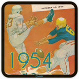 Best Birthday Gift Ideas for Football Fans! 1954 Football Program Coasters by Coolstub™