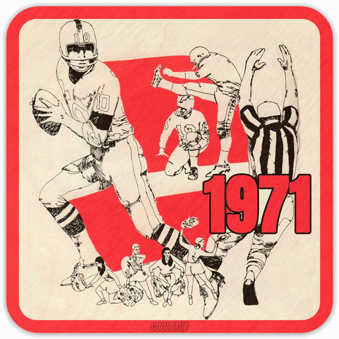 Coolstub™ 1971 Football Art Coasters: Best Father's Day Gift Ideas for Football Fans