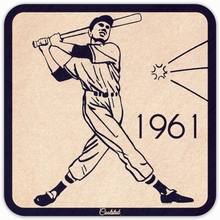 Load image into Gallery viewer, 1961 Baseball Batter Drink Coasters by Coolstub™