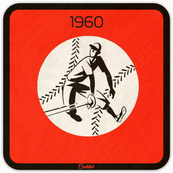 1960 Baseball Art Coasters by Coolstub™