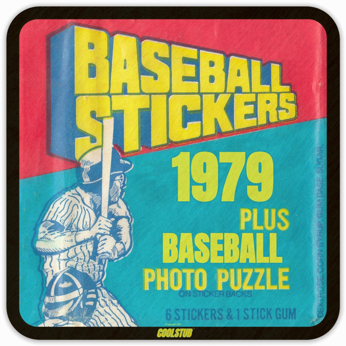 1979 Baseball Stickers Drink Coaster Set (4) by Coolstub™