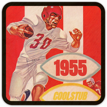 Load image into Gallery viewer, October 1, 1955 Football Program Coasters by Coolstub™