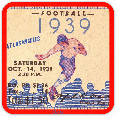 October 14, 1939 Ticket Stub Coasters by Coolstub™