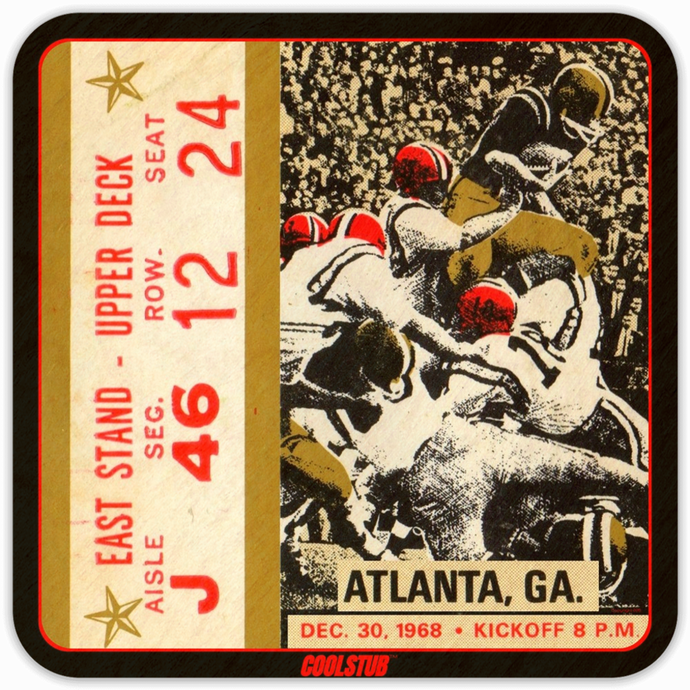 Innovative Father's Day Gift Ideas: December 30, 1968 Football Ticket Coasters by Coolstub™