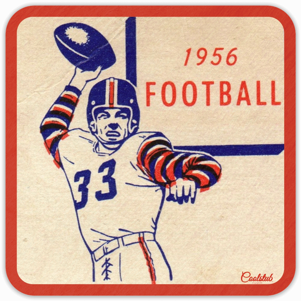1956 Pop Culture Gift Idea: Coolstub™ 1956 Football Coasters