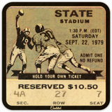 September 22, 1979 Football Ticket Drink Coasters by Coolstub™