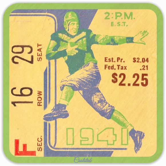 Coolstub™ Vintage Ticket Collectible Coasters: Best Father's Day Sports Gifts 2019