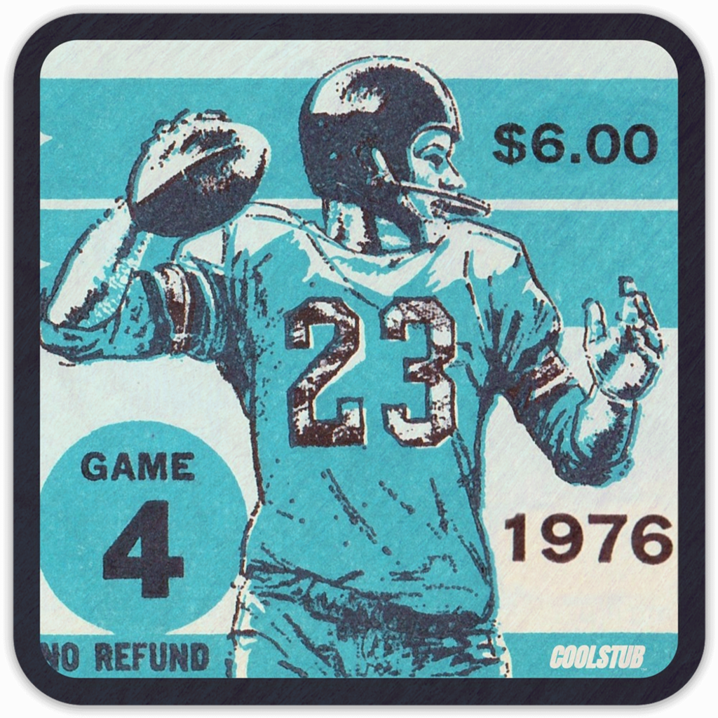 1976 Pop Culture Gift Ideas: '76 Football Ticket Coasters by Coolstub™