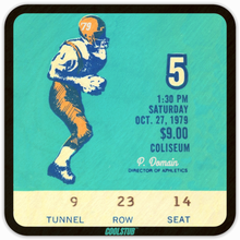 Load image into Gallery viewer, 1979 Public Domain Athletic Director Football Ticket Coasters by Coolstub™