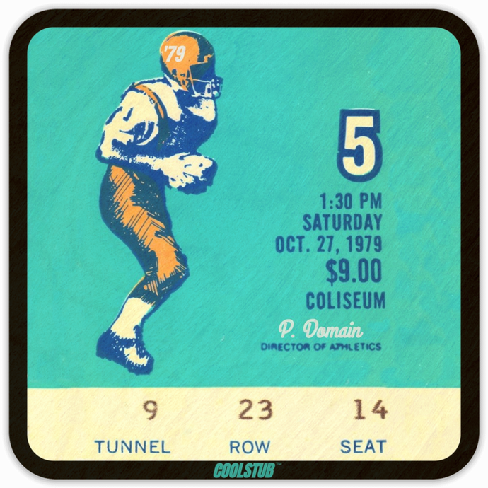 1979 Public Domain Athletic Director Football Ticket Coasters by Coolstub™