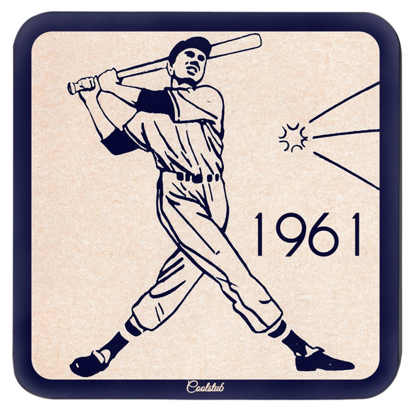 1960's Retro Baseball Variety Coaster Set by Coolstub™
