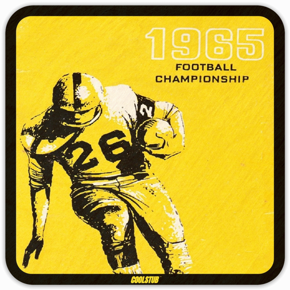 1965 Football Ticket Coasters by Coolstub™