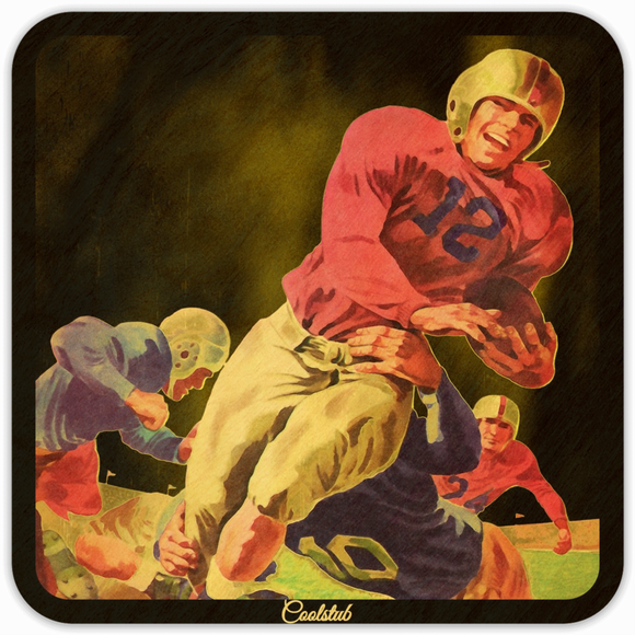 Father's Day Football Gifts: 1946 Football Jersey #12 Touchdown Coasters by Coolstub™