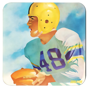 Vintage Football Drink Coasters by Coolstub™ (1948)