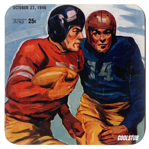 October 27, 1946 Birthday Football Coasters