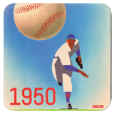 Vintage Baseball Scorecard Coasters by Coolstub™ (1950)