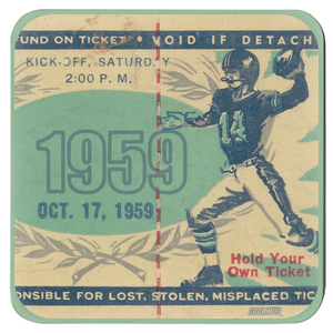 Coolstub™ Football Ticket Stub Coasters (1959)