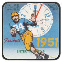 Football Stocking Stuffer Coasters by Coolstub™ (1951)