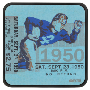 Vintage Football Ticket Stub Coasters (1950)
