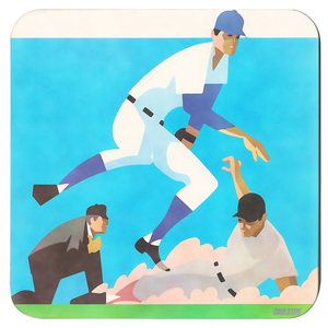 Coolstub™ Vintage Baseball Art Coasters (1970)