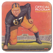 Load image into Gallery viewer, Vintage Football Program Cover Art Coasters (1937)