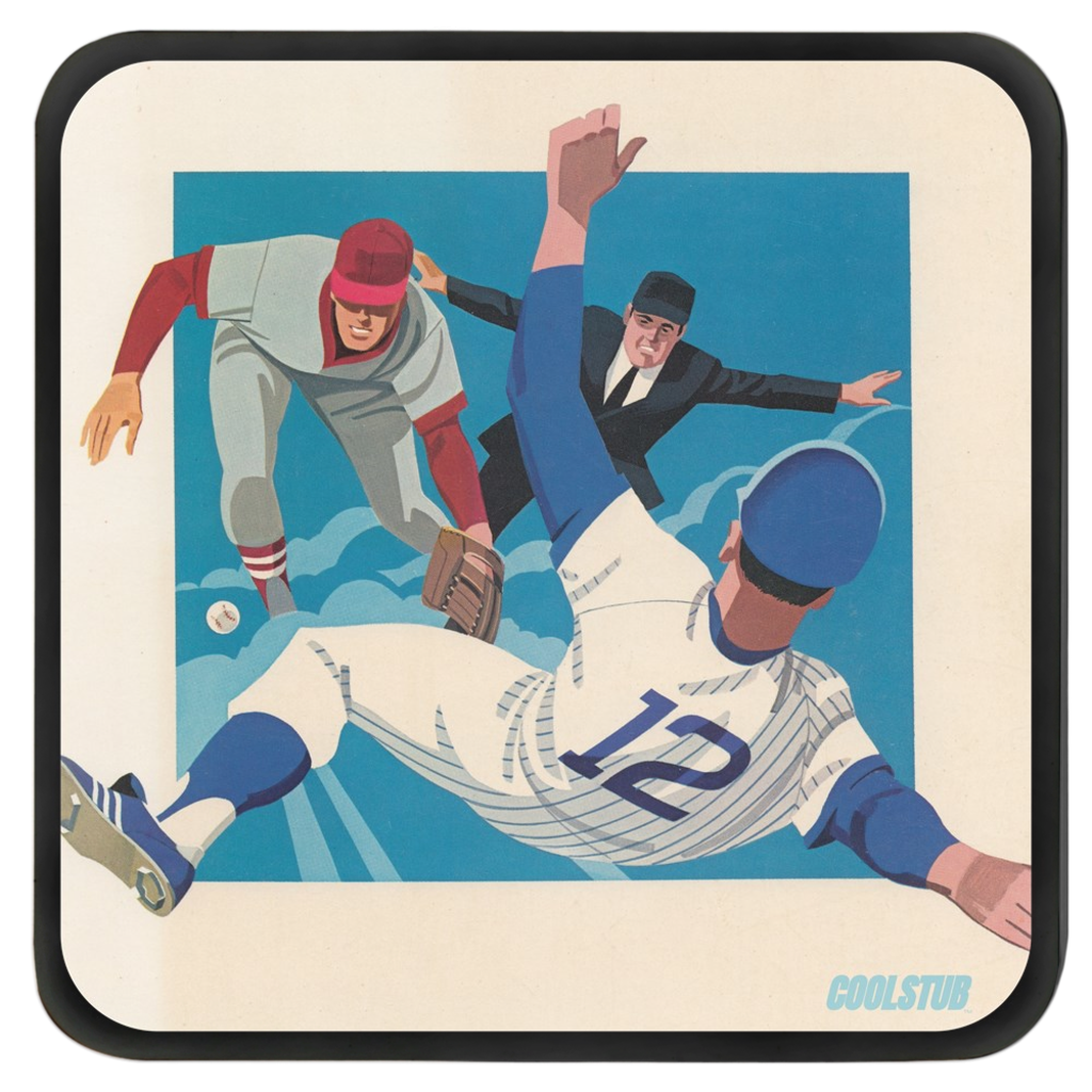 Vintage Baseball Scorecard Art Coasters (1981)