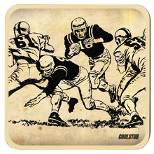 Load image into Gallery viewer, Vintage Running Back Art Coasters (1964)