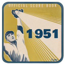 Load image into Gallery viewer, Baseball Scorecard Coasters (1951)