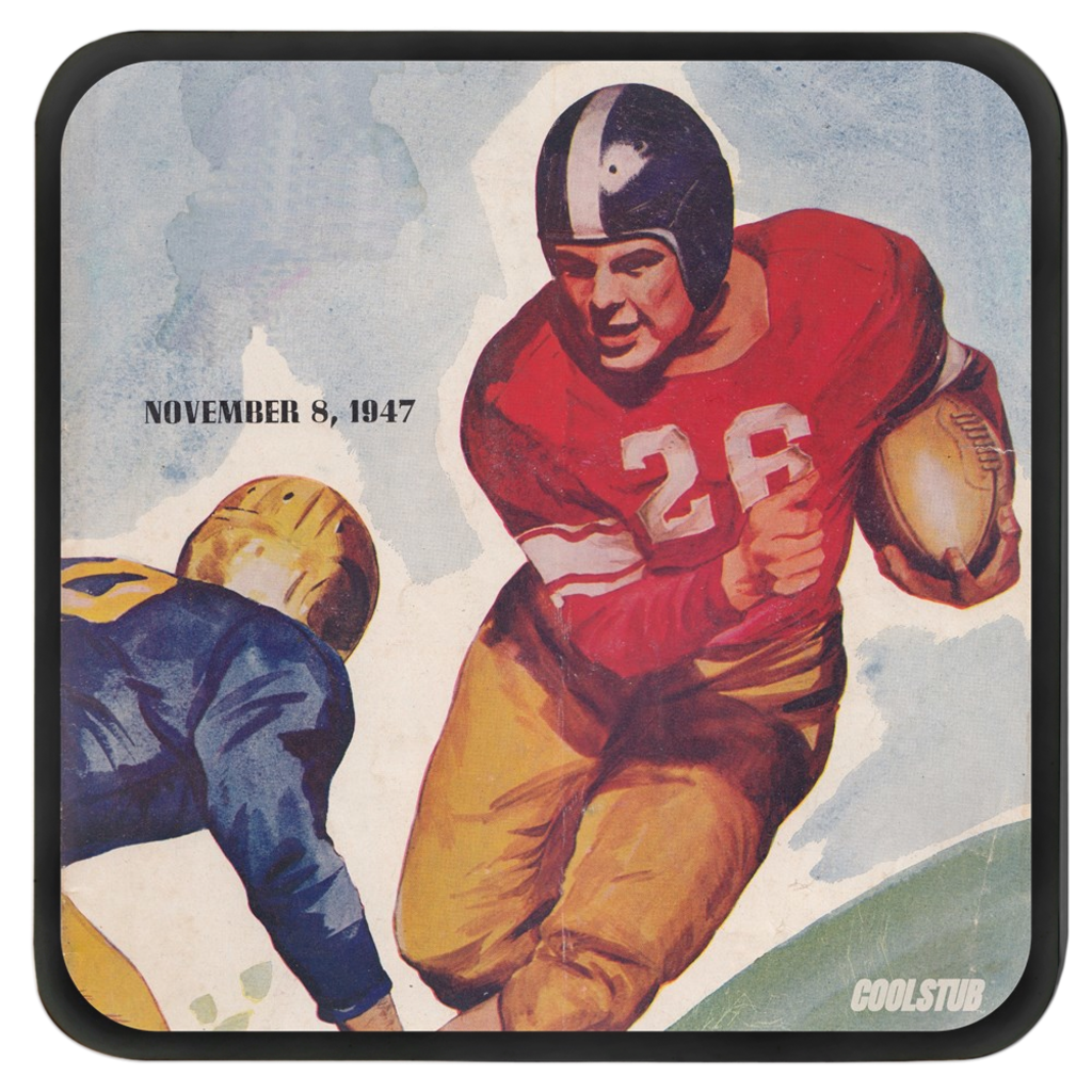 Football Art Drink Coasters (November 8, 1947)
