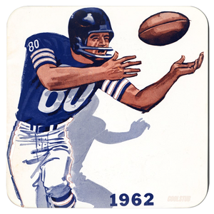 Vintage Football Art Wide Receiver Coasters (1962)