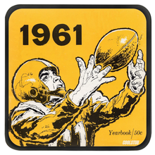 Load image into Gallery viewer, Football Yearbook Coasters (1961)