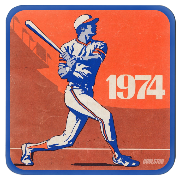 Retro Baseball Drink Coasters (1974)