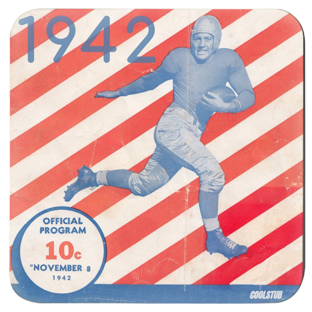 Vintage Football Program Coasters (1942)
