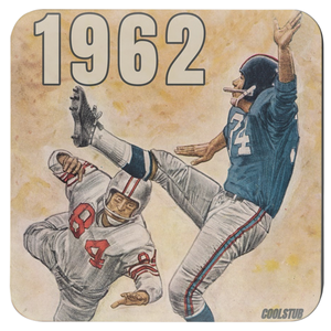 Vintage Football Art Coasters (1962)