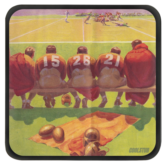 Vintage Football Art Coasters (1934)