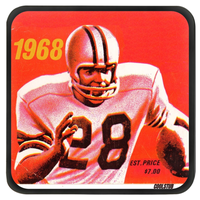 Retro Ticket Stub Football Coasters (1968)