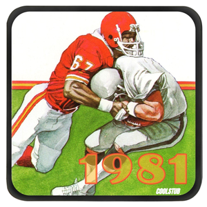 Retro Football Art Coasters (1981)