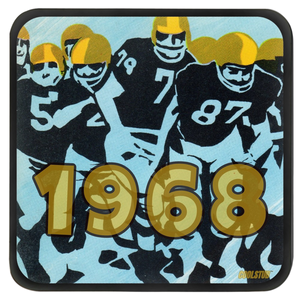 Vintage Football Art Coasters (1968)