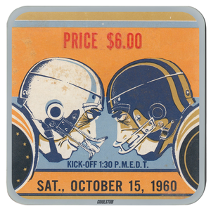 1960 Line of Scrimmage Coasters