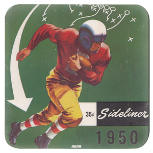Football Play Diagram Coasters (1950)